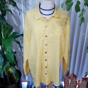 Flax linen button down shirt